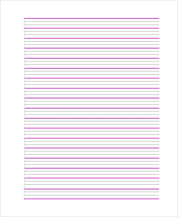 8+ Sample Notebook Papers \u2013 PDF, Word Sample Templates