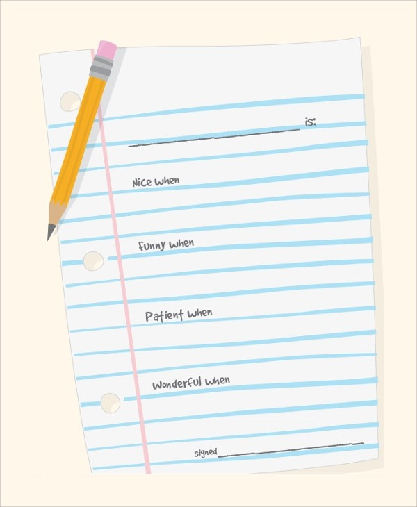 8+ Sample Notebook Papers \u2013 PDF, Word Sample Templates