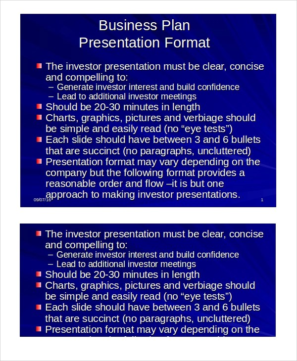 Sample Business Presentation - 7+ Documents in PPT