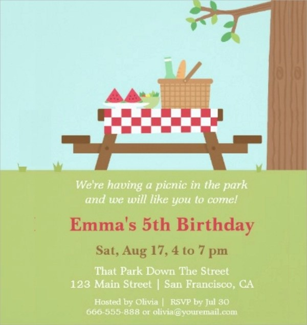 15+ Picnic Invitations Sample Templates