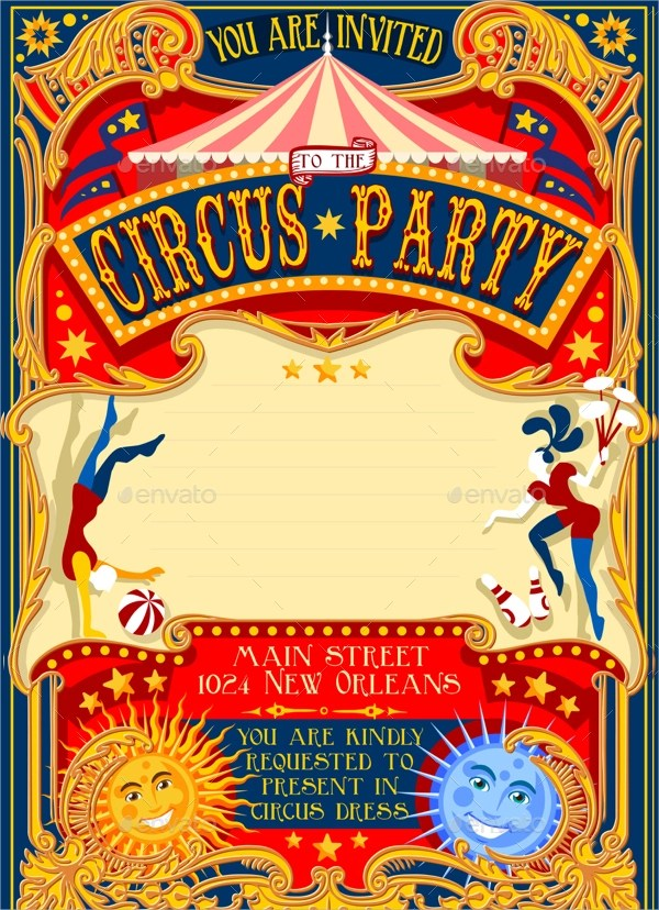 12+ Circus Party Invitations Sample Templates