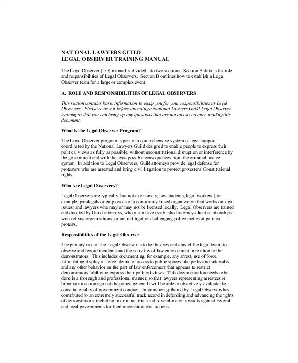 8+ Sample Training Manuals Sample Templates
