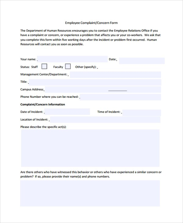 Sample HR Form - 7+ Documents in PDF, Word, Excel