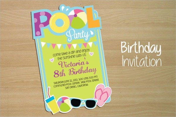 17+ Pool Party Invitations Sample Templates