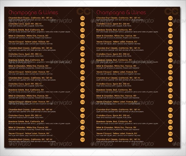 8+ Sample Italian Menus Sample Templates - italian menu