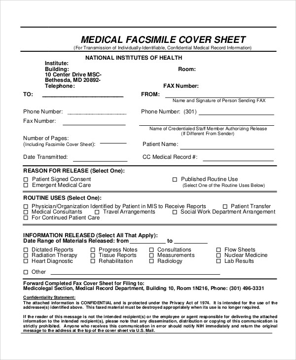 7+ Sample Confidential Fax Cover Sheets Sample Templates