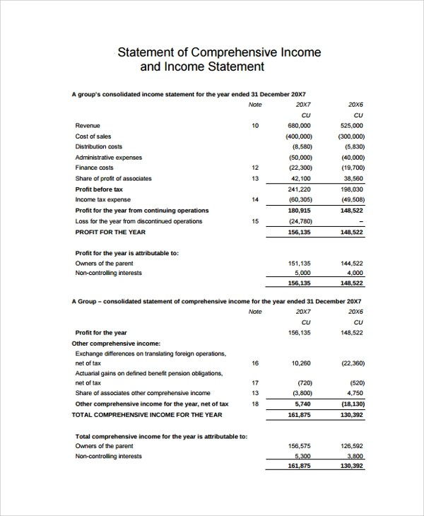 50+ Examples Of Income Statementstatement template personal income - income statement inclusions