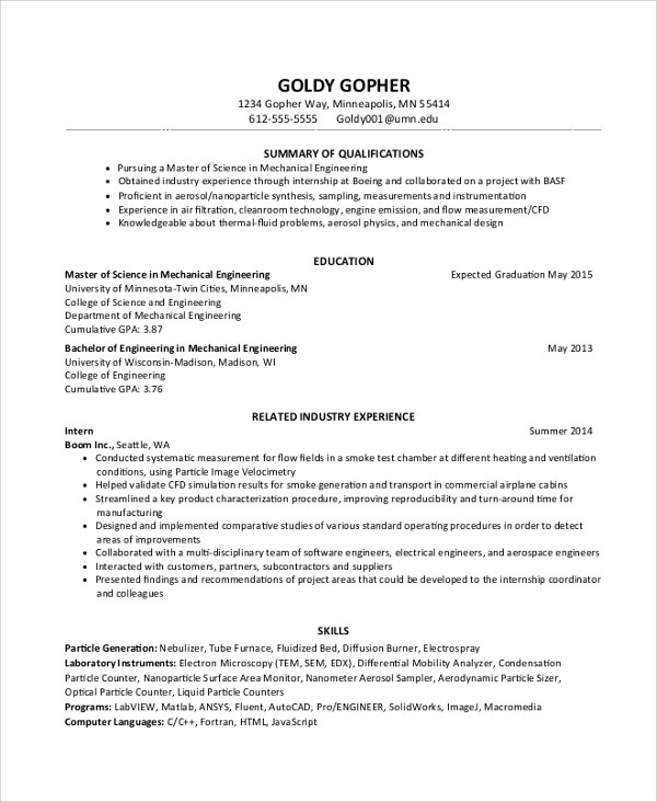 graduate mechanical engineer cv sample akbagreenw