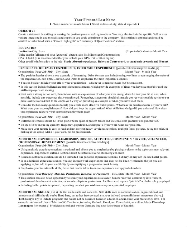 Sample Resume Objectives For Beginning Teachers | Create