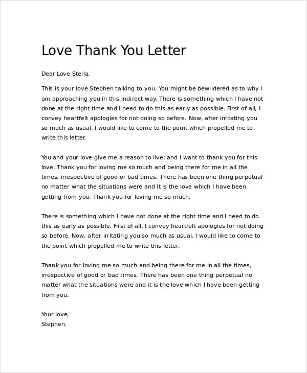 Sample Thank You Letter - 21+ Documents in PDF, Word