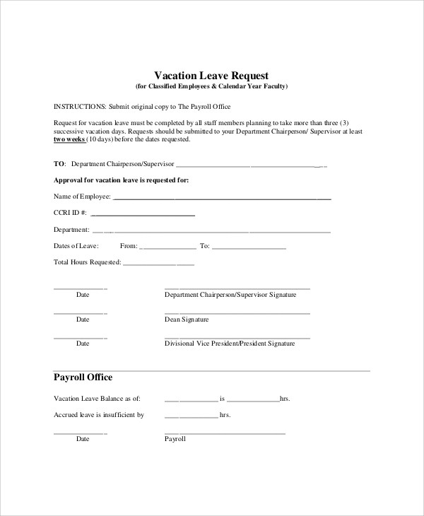 Holiday Request Form Request Form Template Throughout Holiday - holiday leave form template
