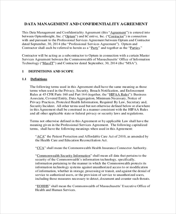 Confidentiality Agreement Pdf Example Generic Celebrity