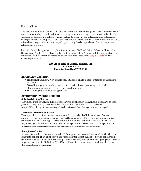 Writing the Progress Report (Academic) - Background Notes letters of - Scholarship Contract Template