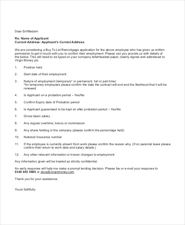 Sample Employment Reference Letter - 6+ Documents In PDF, Word - example reference letter for employee
