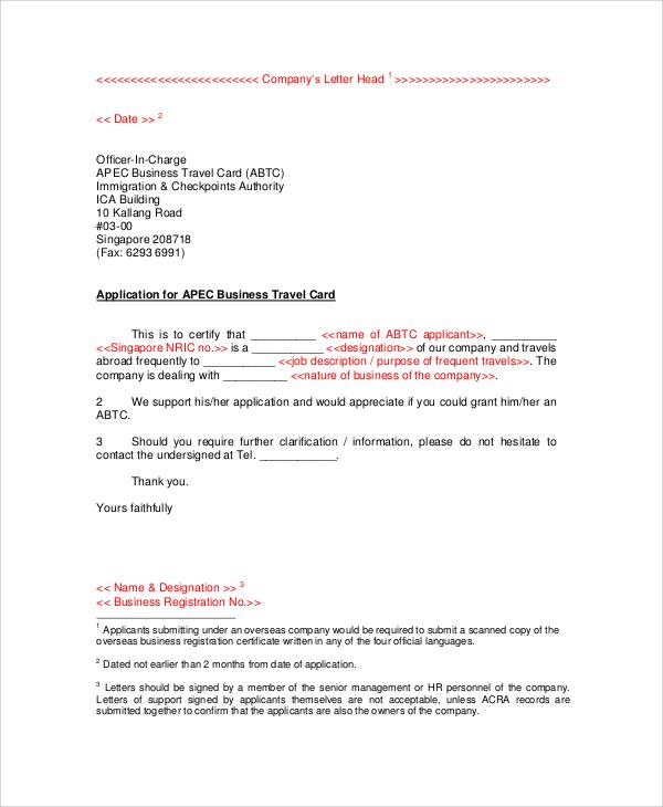 personal letterhead format