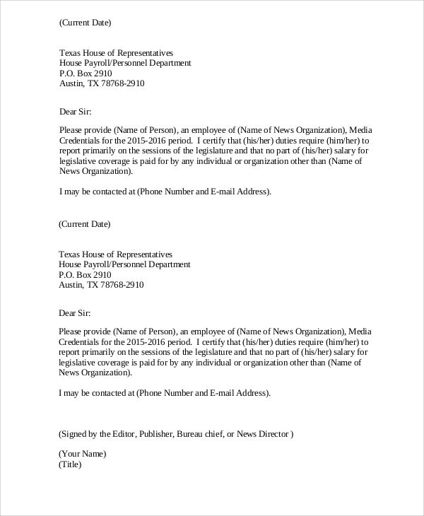 official letters format