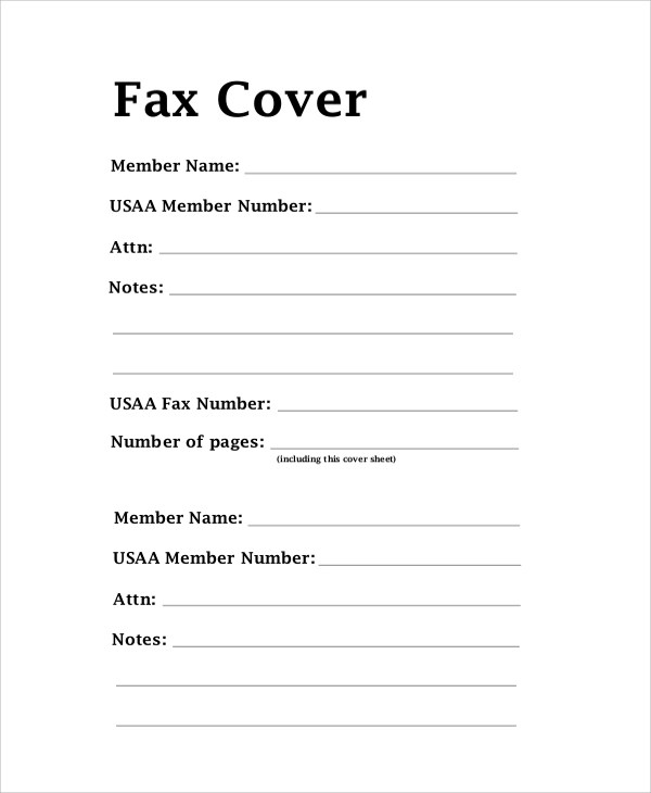 Sample Office Fax Cover Sheet - 8+ Documents In Pdf, WordSample - sample office fax cover sheet