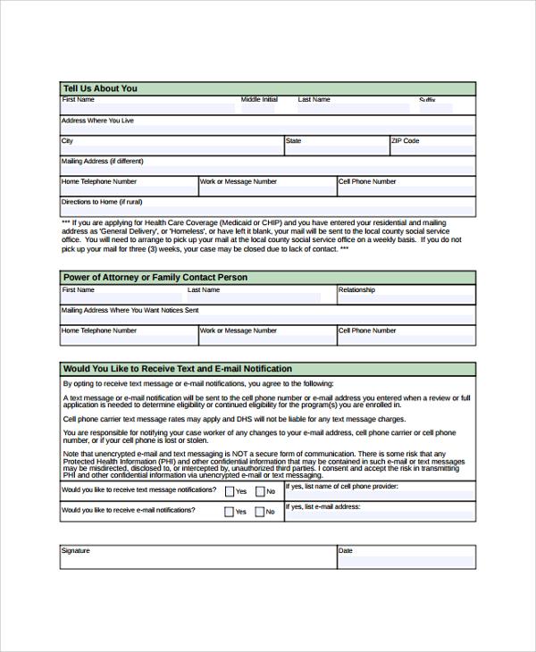 8+ Sample Medicare Application Forms Sample Templates
