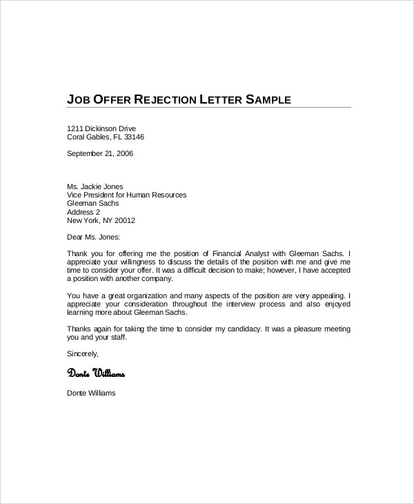 decline letter - Romeolandinez - decline offer letter