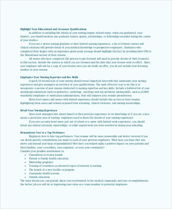 nursing resume service