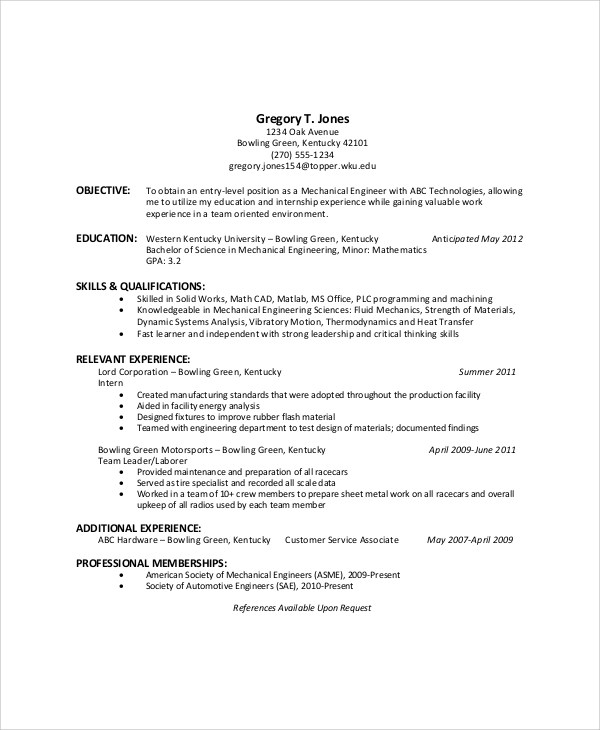 6+ Sample General Resume Objectives Sample Templates - General Resume Objective