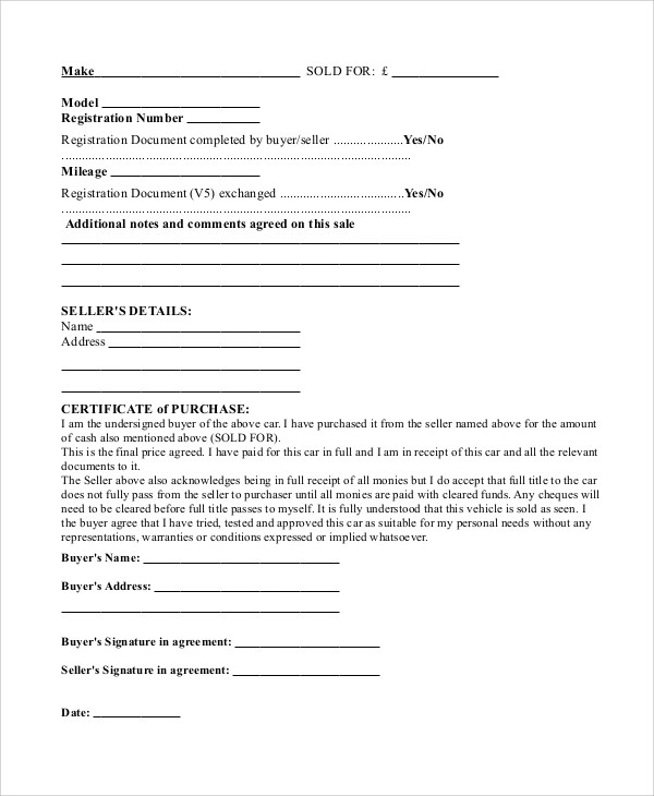 Sample Sales Contract - 7+ Documents In PDF, Word - sales contract