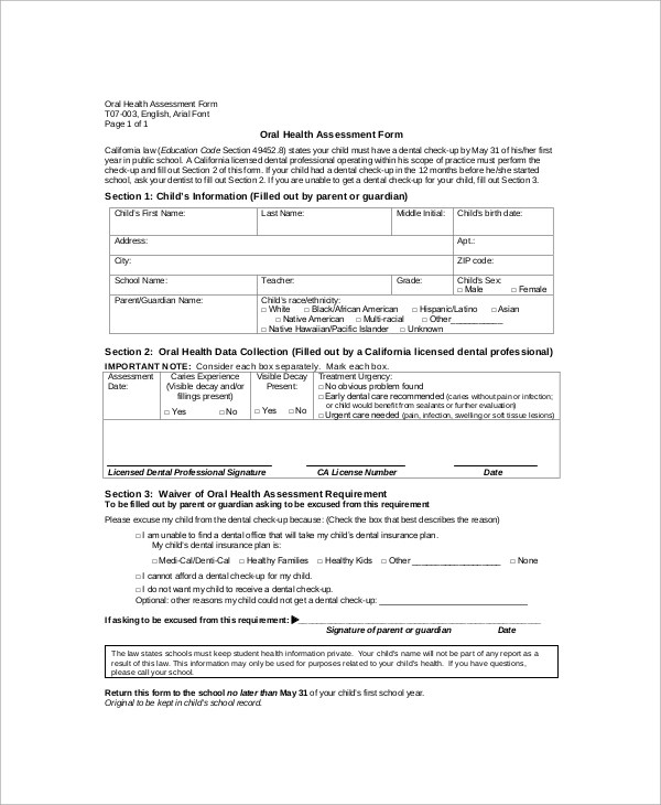 Sample Nursing Assessment Form Nursing Assessment Form Examples - nursing assessment forms