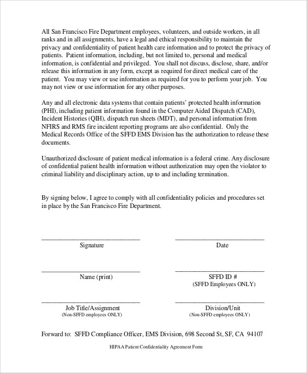 Sample Confidentiality Agreement Form - 8+ Documents In PDF, WORD - contractor confidentiality agreement