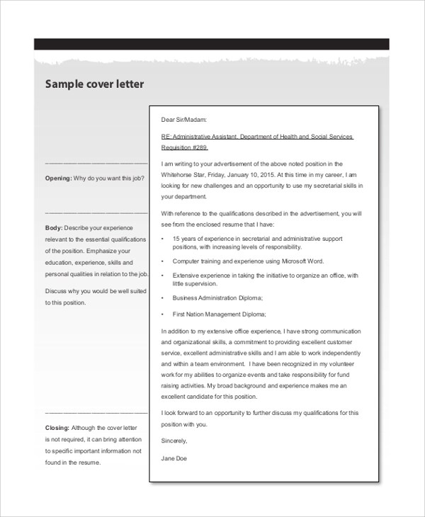 8+ Sample Resume Cover Letter Examples Sample Templates - resume cover sheet example