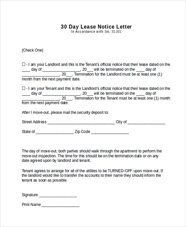 maintenance contract cancellation letter sample writing a contract cancellation letter with sample sample 30 day notice - Contract Cancellation Letter Sample