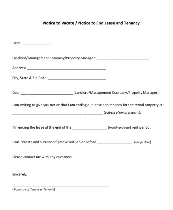 30 day rental notice template 28 images 10 30 day notice lease termination