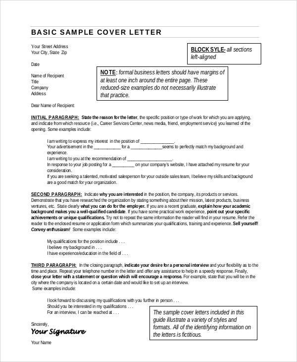 7+ Sample Resume Cover Letter Formats Sample Templates - Resume Letterhead Examples