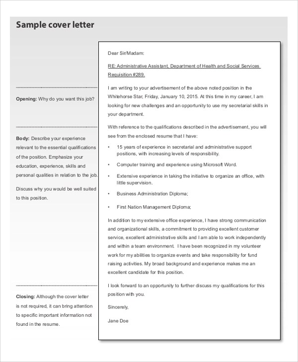 7+ Sample Resume Cover Letter Formats Sample Templates - Sample Resume And Cover Letter