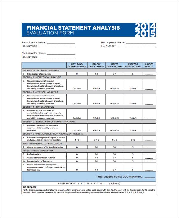 8+ Financial Statement Analysis Sample Sample Templates - sample financial analysis