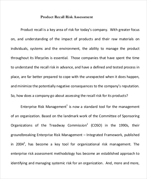 product risk assessment dzeo - product risk assessment