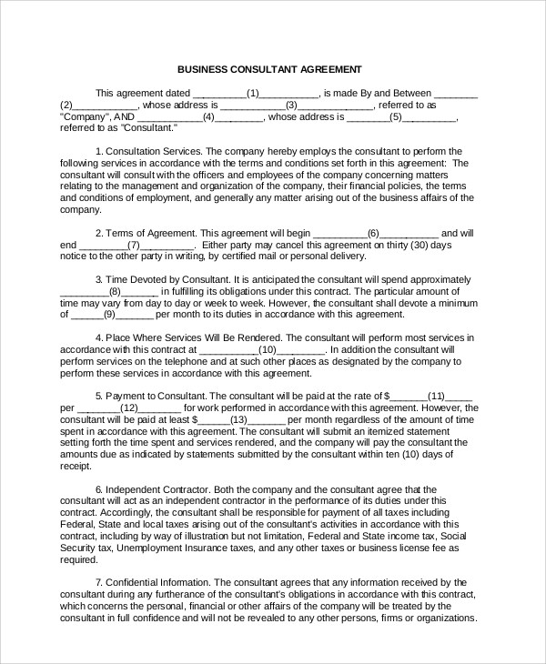 business agreement sle - 28 images - business agreement termination
