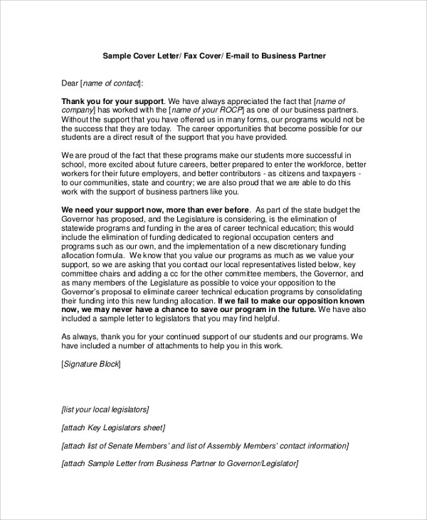 8+ Sample Business Proposal Cover Letters Sample Templates - sample of cover letters