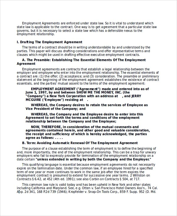 Sample Executive Employment Agreement - 6+ Documents in PDF, WORD - executive employment contract
