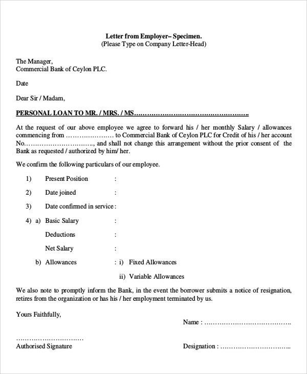 Sample Application Letter Format - 5+ Documents in PDF - application letter format