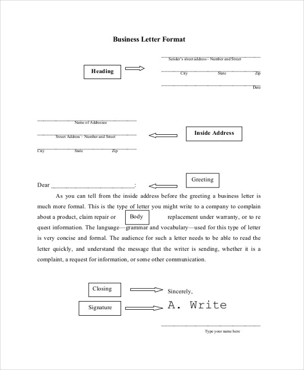 Gallery of Standard Business Letters - sample standard business letter