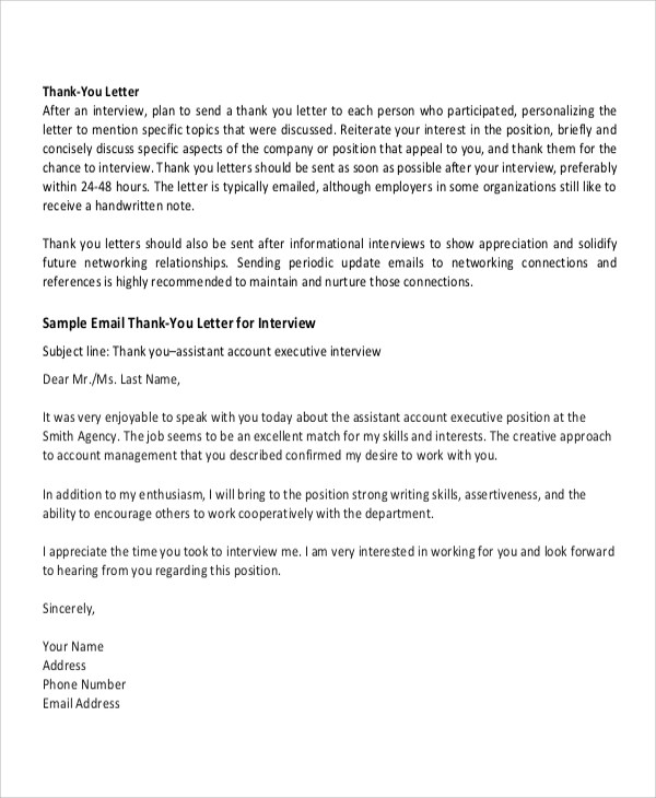 Thank you letter after informational interview resume template 18 professional thank you letters free word pdf format download thank expocarfo