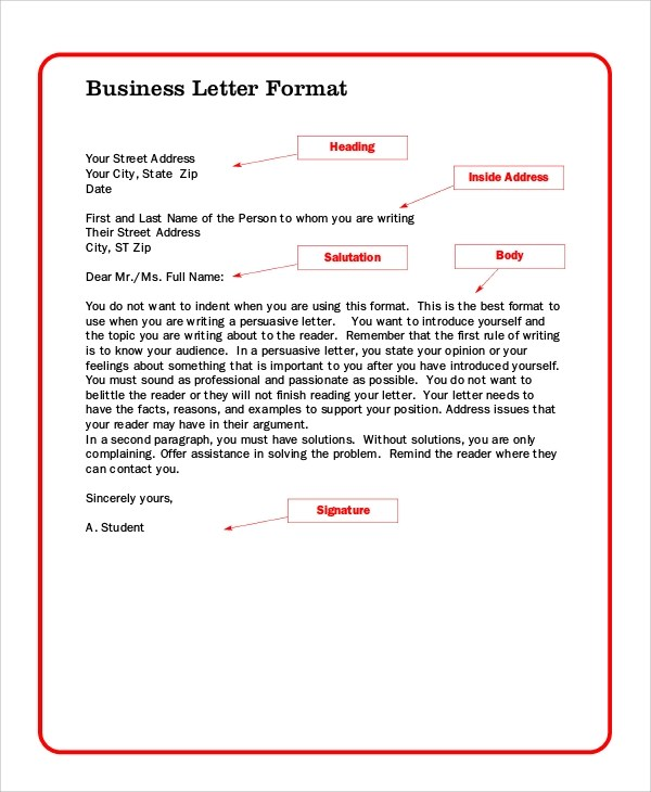 professional business letter samples - Ozilalmanoof