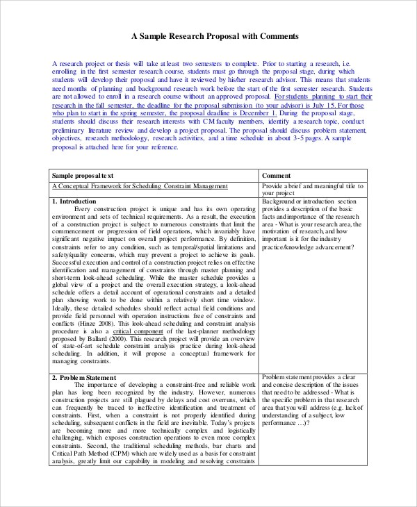 Sample Research Plan - 6+ Documents in PDF