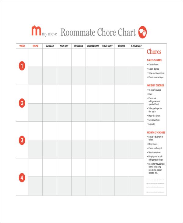 19+ Sample Chore Charts Sample Templates
