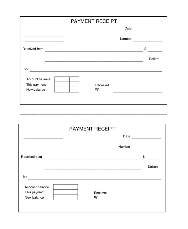 8+ Sample Payment Receipts Sample Templates