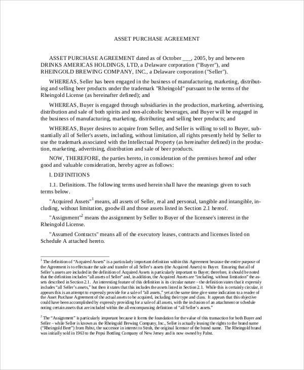 Sample Purchase Agreement - 7+ Documents in PDF, WORD - purchase agreement samples