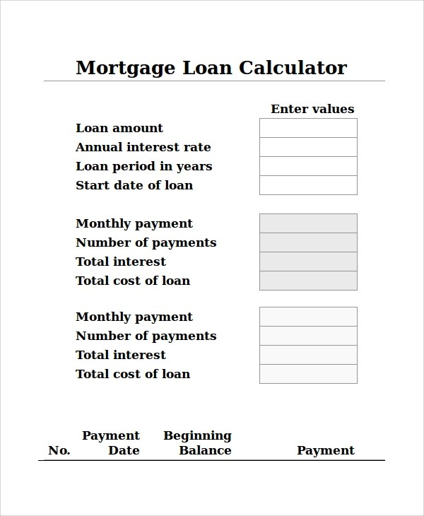 7+ Loan Calculator Excel Samples Sample Templates - Loan Calculator Excel