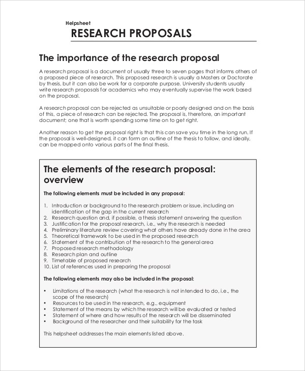Project Proposal Sample - 5+ Documents in PDF