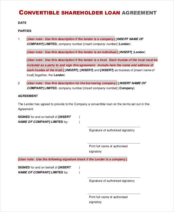 business loan agreement template cvlook03billybullock - convertible note agreement template