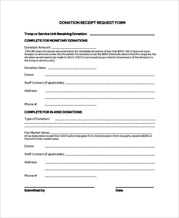 Doc#838922 Charitable Donation Receipt u2013 Charitable Donation - donation receipt letter